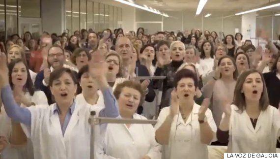 El 'flashmob' que emocionó a Amancio Ortega
