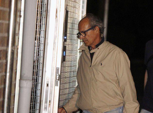 Edmundo Rodríguez Sobrino, el pasado abril a su llegada a la Comandancia de la Guardia Civil en Madrid...