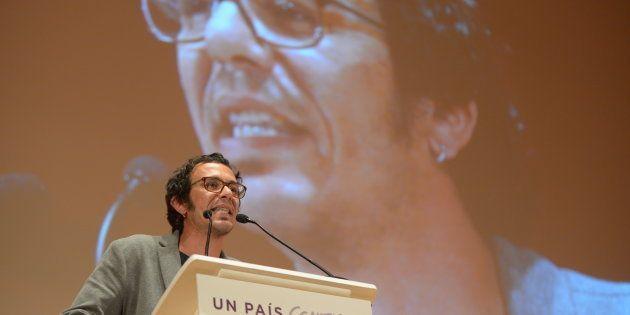 El alcalde de Cádiz, José María Gonzalez 'Kichi', durante un acto electoral de Podemos en