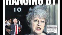Las primeras portadas de la victoria amarga de Theresa