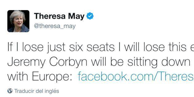 El tuit de Theresa May que ha envejecido