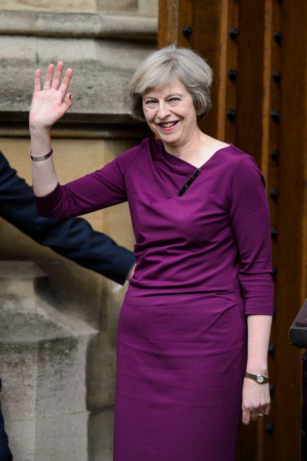 La todavía primera ministra, Theresa