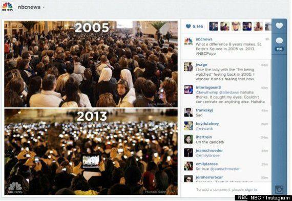 La evolución tecnológica, a través del recibimiento a los Papas