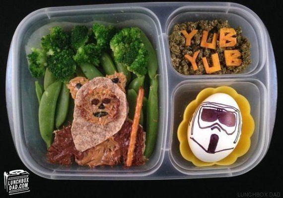 Este padre prepara almuerzos temáticos de 'Star Wars' para sus hijos