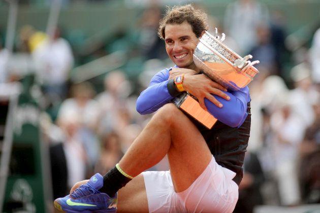 Rafa Nadal tras ganar su 10º Roland