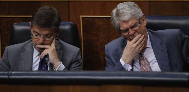 El ministro de Justicia, Rafael Catalá, y el de Exteriores, Alfonso