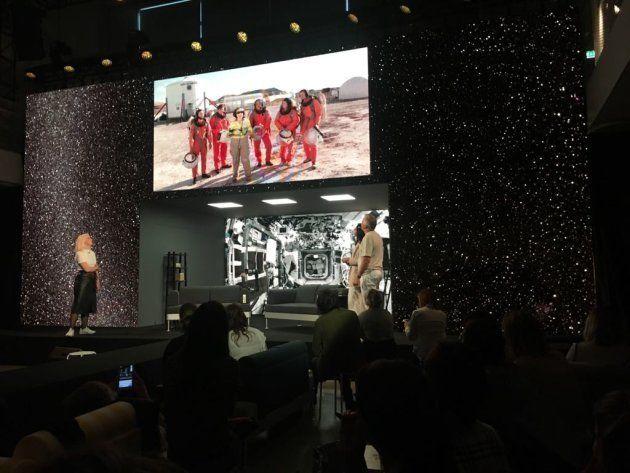 Momento de la presentación de la colaboración de Ikea con la NASA durante sus Democratic Design