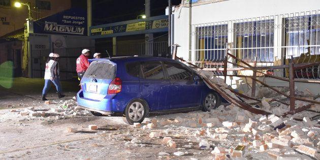 Daños causados por el terremoto en Quetzaltenango,