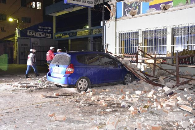 Daños causados en Quetzaltenango,