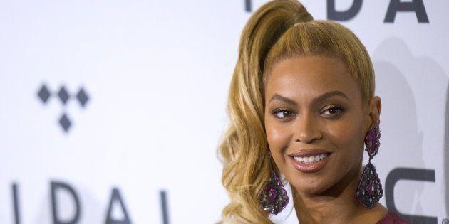 Beyoncé en un concierto en Nueva York en octubre de