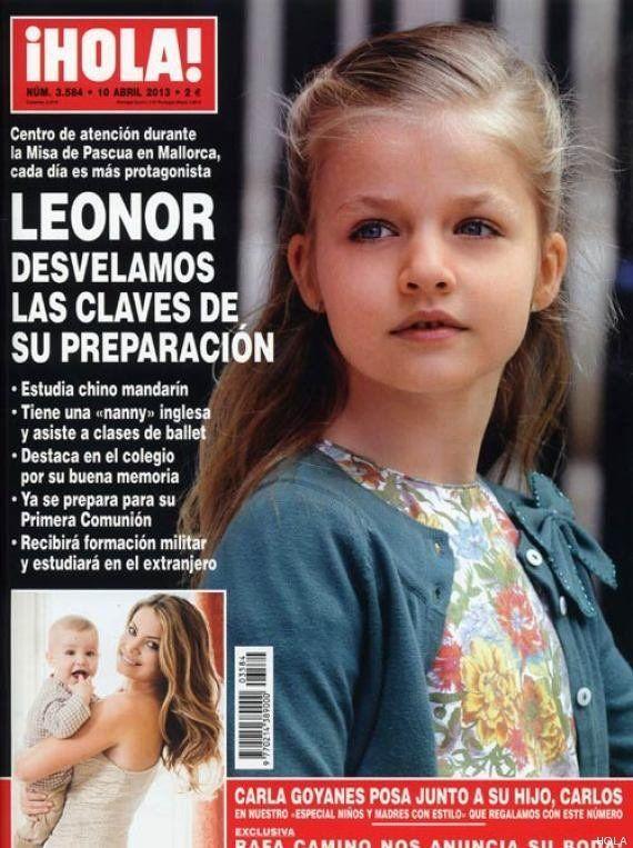Leonor estudia chino: la infanta es portada de Hola