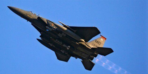 Imagen de archivo de un F-15 estadounidense en Afganistán, en enero de