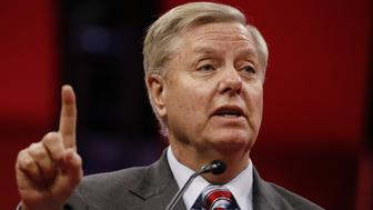 Senator Lindsey Graham, a Republican from South Carolina, speaks during the American Conservative Unions Conservative Political Action Conference (CPAC) in National Harbor, Maryland, U.S., on Thursday, Feb. 28, 2019. President Trump will attend this year's Conservative Political Action Conference on his return from a summit with North Korea leader Kim Jong Un in Hanoi, according to a White House official. Photographer: Aaron P. Bernstein/Bloomberg via Getty Images