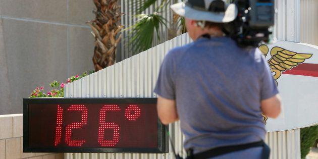 Un termómetro a 126 grados en Palm Springs, California, en junio de
