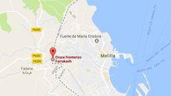 Un coche kamikaze entra con nueve inmigrantes en Melilla y hiere a dos