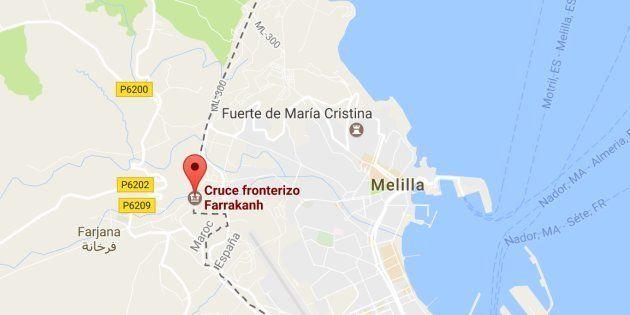 Mapa de localización del paso de