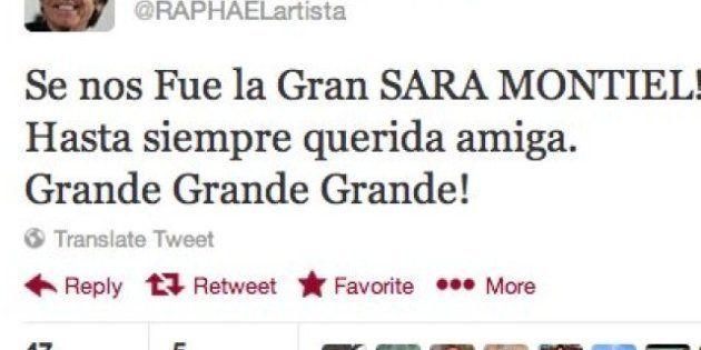 Muerte de Sara Montiel: la despedida de los famosos en Twitter (TUITS,
