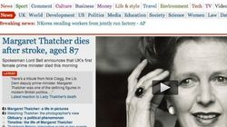 La muerte de Thatcher, en los medios