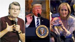 Donald Trump bloquea en Twitter a Stephen King y JK Rowling sale al