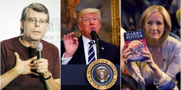 Stephen King, Donald Trump y JK Rowling, en varias imágenes de