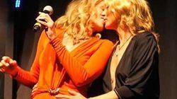 ¿Cuánto vale el beso de Sharon Stone y Kate Moss?