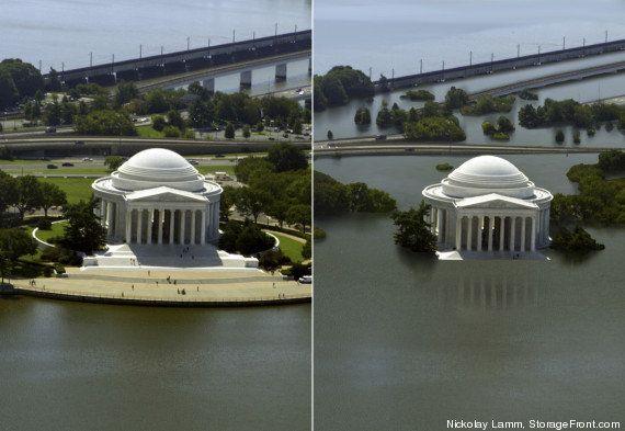 Antes y después del cambio climático: así serían las ciudades si sube el nivel del mar