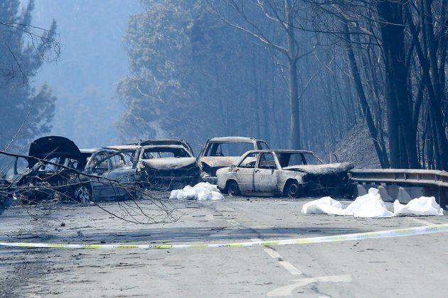 El incendio en el centro de Portugal deja ya 64 muertos y 135