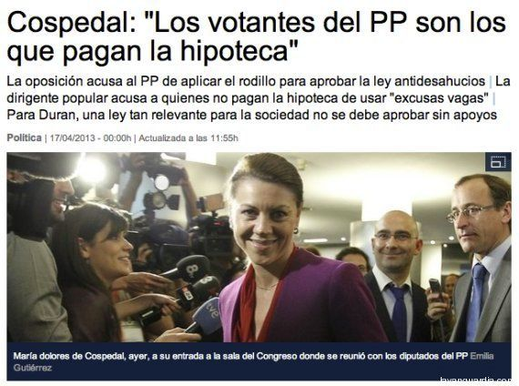 'La Vanguardia' rectifica unas declaraciones atribuidas a Cospedal y muy criticadas en Twitter