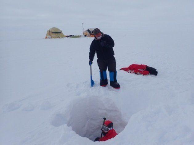 Agujeros en el pasado del mayor río de hielo de