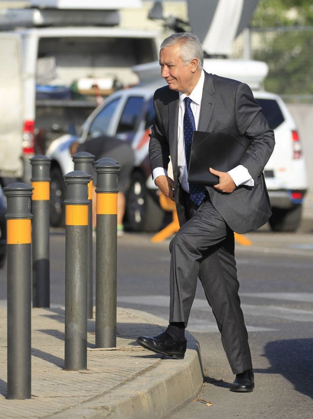 El ex secretario general del PP, Javier Arenas, a su llegada a la sede de la Audiencia Nacional en San...
