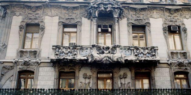 La fachada de la sede de la SGAE, en