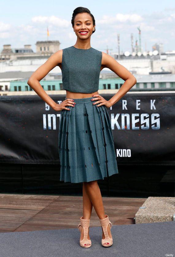 Zoe Saldana: la perfección a la hora llevar un top