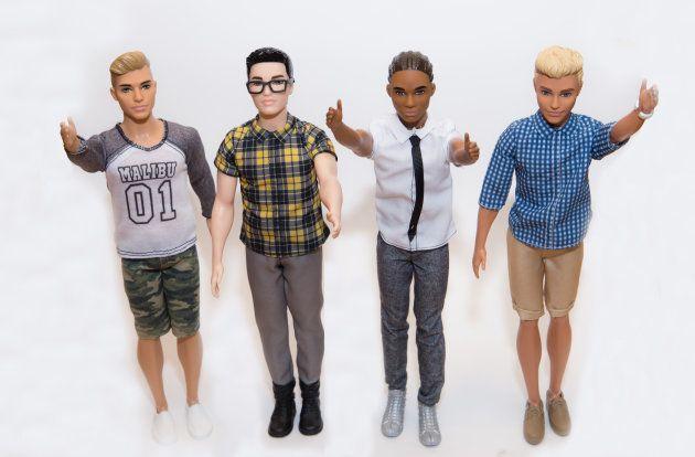 Algunos de los nuevos modelos de Ken, con distintos rostros, cuerpos y