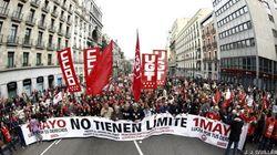 80 manifestaciones reclaman crecimiento y empleo en el Día del Trabajo