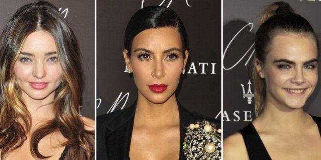 Una fiesta, tres escotes rarunos y tres vestidos : Cara Delevingne, Kim Kardashian y Miranda