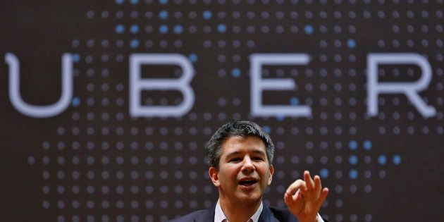El fundador de Uber, Travis Kalanick, en una conferencia en Mumbai, India en enero de