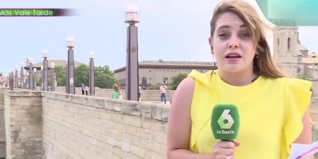 El gracioso lapsus en directo de una acalorada reportera de