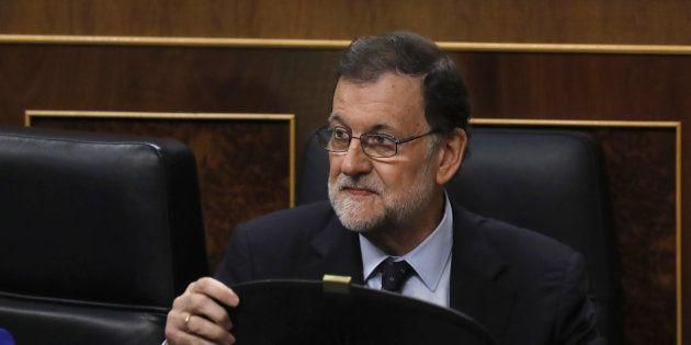 El presidente del Gobierno, mariano Rajoy, durante la sesión de control al Gobierno, este miércoles en...