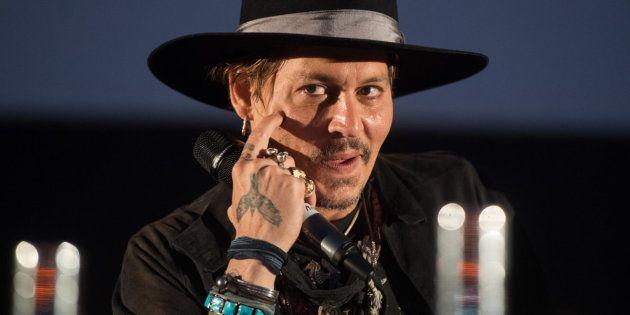 Johnny Depp en el pase de 'The Libertine' en Glastonbury,