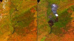 La huella del incendio de Portugal, visible desde el
