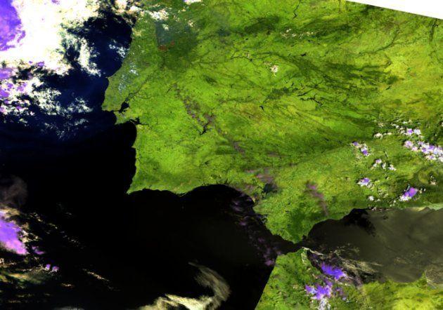 Vista aérea del incendio de Portugal el 18 de