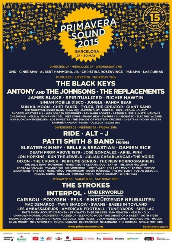 The Black Keys, Interpol, Patti Smith y Antony and the Johnsons, cabezas de cartel del Primavera Sound
