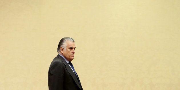 El extesorero del PP Luis Bárcenas, a su llegada hoy al