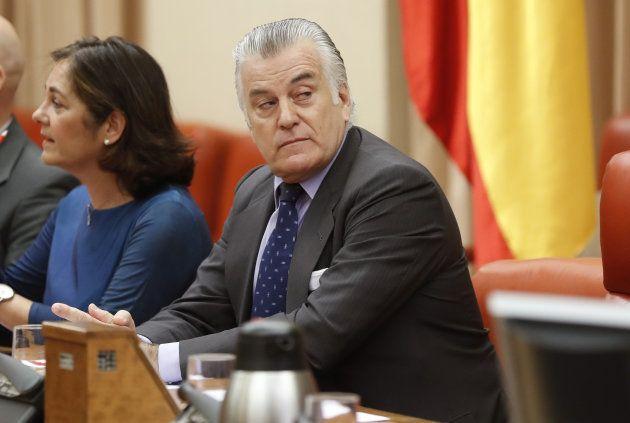Luis Bárcenas, momentos antes de su