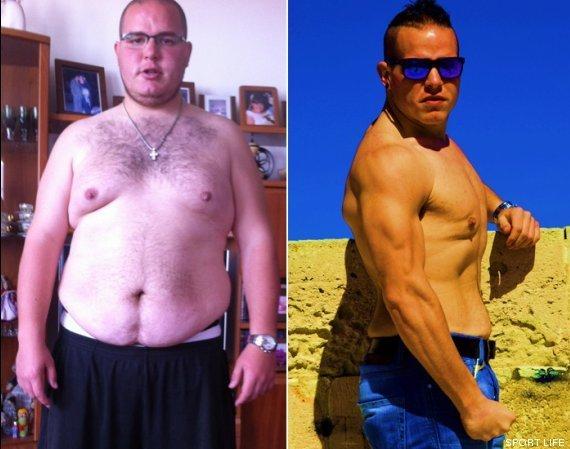 antes despues perdida de peso