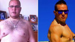 Antes y después de comenzar a hacer deporte