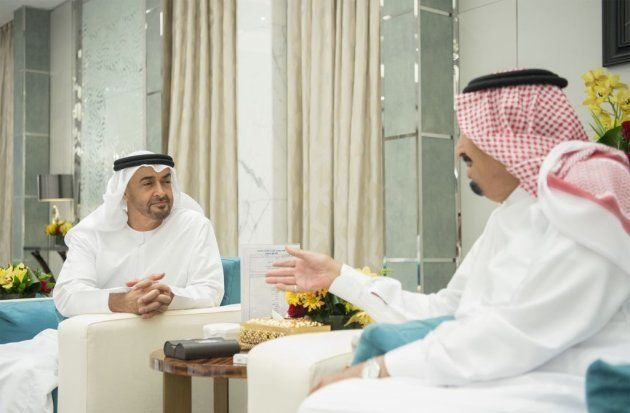 El rey Salam y su hijo y recién nombrado heredero, el príncipe Mohamad bin