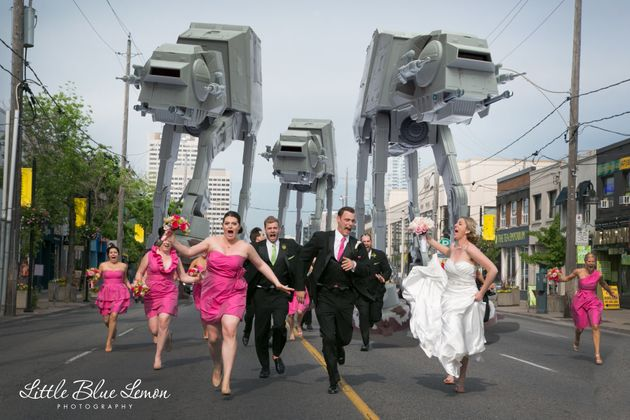 Fotos de boda originales: homenajes a 'Star
