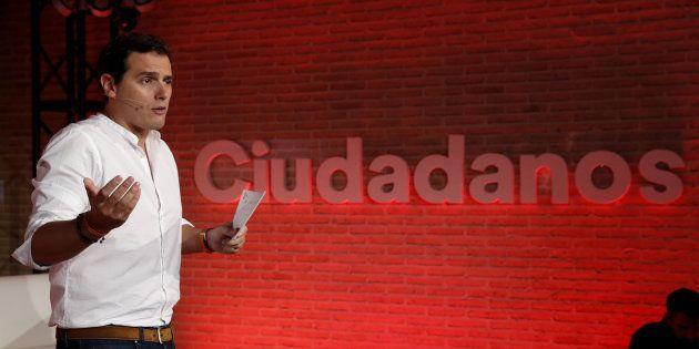 El presidente de Ciudadanos, Albert Rivera, durante un acto sobre nuevos modelos de familia, el pasado...