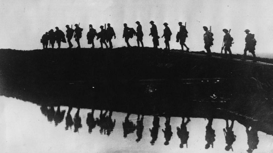Soldados australianos cerca de Ypres (Bélgica), en